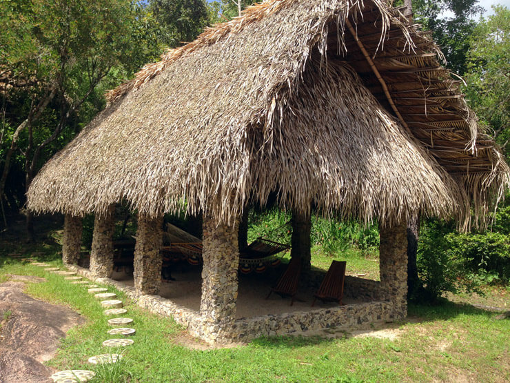 large palapa for shady afternoons by the river