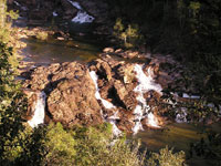 The beautiful waterfall at Five Sister's Lodge is located just a few minutes walk from the Villa.